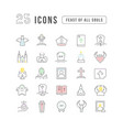 line icons feast all souls vector image vector image