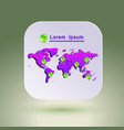 map icon for application vector image vector image
