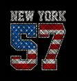 new york number 57 vector image vector image