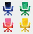 Office chair icon Abstract Triangle vector image vector image