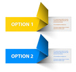 options yellow blue hranate inv vector image vector image