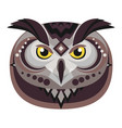 Owl head logo decorative emblem