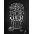 Poster popcorn butter chalk vector image vector image