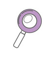 purple magnifying optical search tool vector image vector image