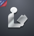 Read a book icon symbol 3D style Trendy modern vector image
