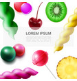realistic fruit sweet products template vector image vector image