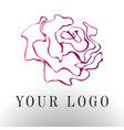 red rose logo - emblem design vector image