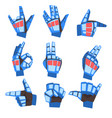 robot hand showing various gestures set vector image