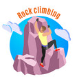 rock climbing composition vector image vector image