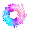round frame of multicolored blots of paint with vector image vector image