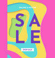 sale banner fashion bright colorful template vector image vector image