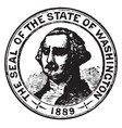 seal of the state of washington 1913 vintage vector image vector image