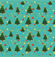 seamless background template with christmas tree vector image