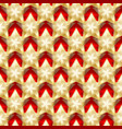 seamless gold stars on a red background vector image