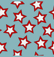 seamless pattern with stars on blue background vector image