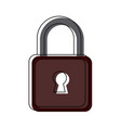 security padlock technology protection lock system vector image vector image