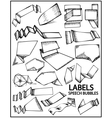Set of hand drawn labels