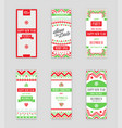 set of happy new year or merry christmas theme vector image vector image