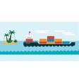 Ship cargo sea transportation vector image vector image