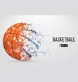 silhouette of a basketball ball vector image vector image