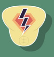superhero color sticker badges emblems logos vector image vector image