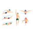 swimmers various characters swimmers in vector image