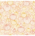 Thanksgiving line art pumkins seamless pattern vector image vector image
