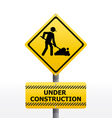 TRAFFIC construction vector image vector image