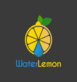 water drop lemon logo design template vector image