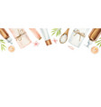 watercolor banner with spa isolated vector image