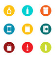 wrapper icons set flat style vector image vector image