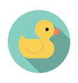 yellow rubber duck toy bath toy vector image vector image