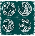 Zodiac signs - Virgo Libra Aquarius Pisces vector image