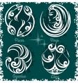 Zodiac signs - Virgo Libra Aquarius Pisces vector image vector image