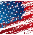 grunge united states of america flag pattern vector image