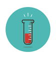 Laboratory flat icon Medical vector image