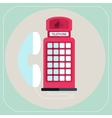 red telephone box icon vector image
