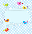 Frame with birds on wires vector image