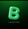 3d playful letter b kids and joy style symbol vector image vector image
