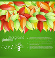abstract floral bright autumn template vector image vector image