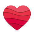 abstract heart shape vector image vector image