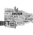 american roulette strategy text word cloud concept vector image vector image