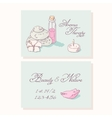 Aromatherapy hand drawn business cards template vector image