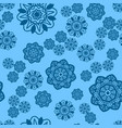 azure and blue snowflake seamless ornament vector image vector image