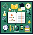 Back to school icons set vector image vector image
