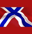 background norwegian flag in folds tricolour vector image vector image