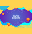 background template with abstract shapes and color vector image vector image
