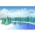 Beautiful Winter Landscape vector image vector image