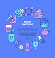bitcoin investment round banner with place vector image vector image