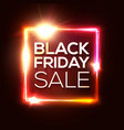 black friday sale banner advertising red poster vector image